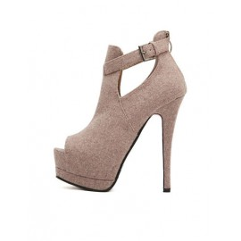 Noble Peep Toe Shoes with Stiletto Heel For Women