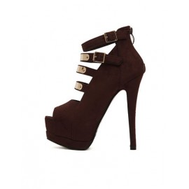 Sexy Strappy Peep Toe Shoes with Stiletto Heel For Women