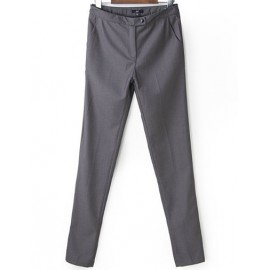 Basic Tailored Pants in Pure Color Size:S-L