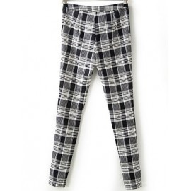 Stretch Checked Skinny Pants in Slim Fit Size:S-L
