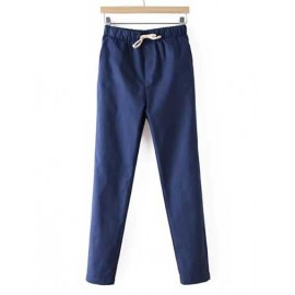 Pure Color Relaxed Pants in High Waist Size:M-XL
