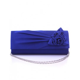 Fancy Flower Ornament Evening Bag with Chain Shoulder