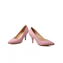 Classic Point Toe Stiletto Shoes in Pure Color Size:34-39