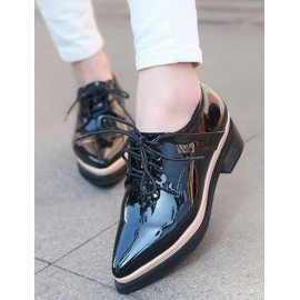Trendy Pointed Toe Lacy Design Low Heel Boots Size:35-39