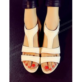 Basic Pure Color Ankle Buckled Sandals in Wedge Size:34-39