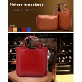Ladies Tote Bag Synthetic Leather Adjustable Handle Brand Shopping Bag