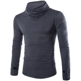 All Matched Slim Fit High Neck Long Sleeve T-Shirt