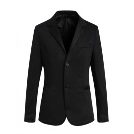 Simple Twin Buttons Trim Blazer in Pure Color