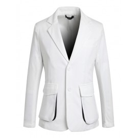 Casual Flap Pockets Blazer with Twin Buttons