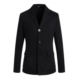 Casual Single-Breasted Blazer in Solid Color