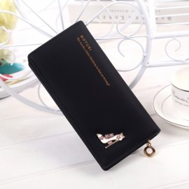 Women Fashion Synthetic Leather Foldable Purse Credit ID Card Holder Long Clutch Wallet