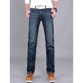 Newly Fleeced Lined Slim Fit Stright Jeans