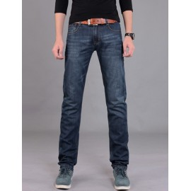 Casual Washed Stright Jeans in Slim Fit