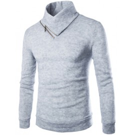 Trendy Long Sleeve Sweater with Roll Neck