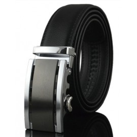 Classic Hollow Out Stripe Embellished Alloy Buckle Belt
