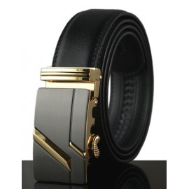 Noble Style Alloy Automatic Buckle Leather Belt