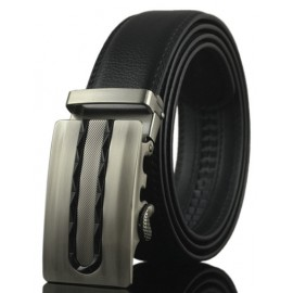 Retro Style Alloy Inlay Buckle Leather Belt For Men