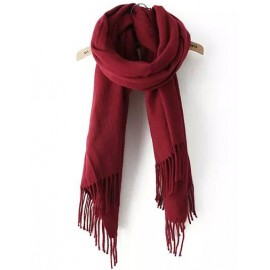 Charming 180CM Plaid Scarf in Fringed For Women