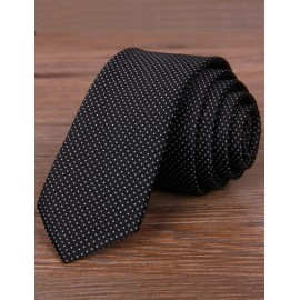 England Dots Embossed Skinny Neck Tie in Contrast Color
