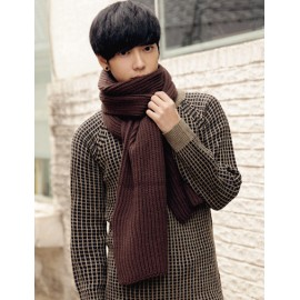 Concise All-Match Knit Scarf in Solid Color