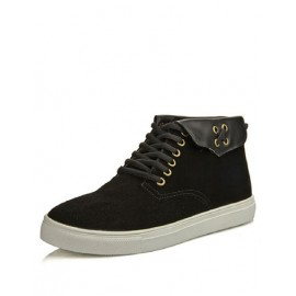 Cool Suede Lace-Up Round Toe Casual Shoes For Men