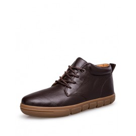Comfy Lace-Up Martin Boots in Solid Color
