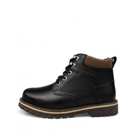 England Mesh Pattern Lace-Up Martin Boots with Fashion Logo
