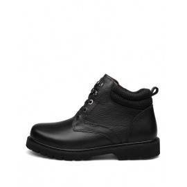 England Lace-Up Martin Boots in Solid Color