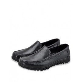 All-Season Stitching Trim Dress Shoes with Square Toe