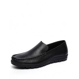 Concise Stitching Trim Dress Shoes in Solid Color