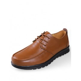 All-Season Polished Lace-Up Dress Shoes with Seaming Trim