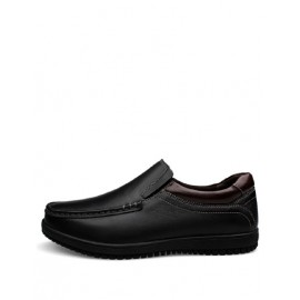 Gentlemanly Stitching Trim Round Toe Dress Shoes in Two Tone