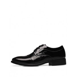 Luxurious Shiny Pointed Toe Lace-Up Dress Shoes For Men
