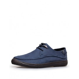 Sporty Seaming Trim Lace-Up Shoes in Two Tone