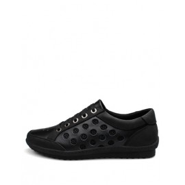 England Mesh Panel Pure Color Shoes with Hollow-Out