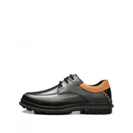 Loose-Fit Stitching Trim Shoes in Contrast Color