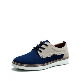 Sportive Contrast Color Board Shoes with Antiskid Trim