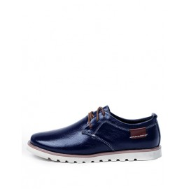 England Almond Toe Lace-Up Polished Shoes in Two Tone