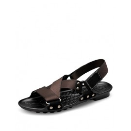 Korean Sling Back Studs Detail Sandals with Open Toe