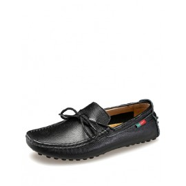 Modern Lace-Up Bowknot Loafers with Square Toe