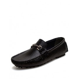 England Metallic Trim Loafers with Croco Veins