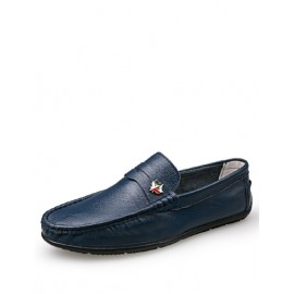 England Maple Metallic Ornament Loafers with Round Toe
