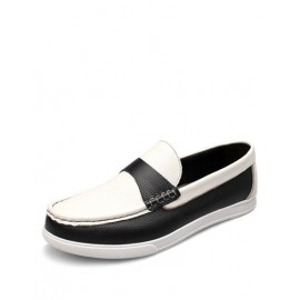 Concise Monochrome Shoes with Stitching Trim