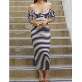 Classic Slinky Deep V-neck Wrap Crop Top and Pencil Skirt