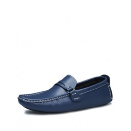 Leisure Square Toe Loafers with Stitching Trim