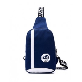 Attractive Sporty Letter Print Color Panel Chest Bag