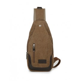 Retro Style Color Block Functional Bag For Men