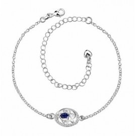 A006-A Free Shipping New Design Large Stock Delicate Handmade Cheap Silver Plated Anklet Bulk Sale