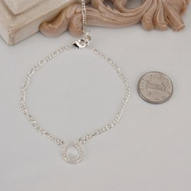 A023 Free Shipping New Design Large Stock Delicate Handmade Cheap Silver Plated Anklet Bulk Sale