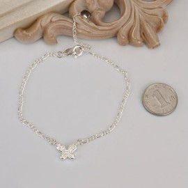 A008 Free Shipping New Design Large Stock Delicate Handmade Cheap Silver Plated Anklet Bulk Sale